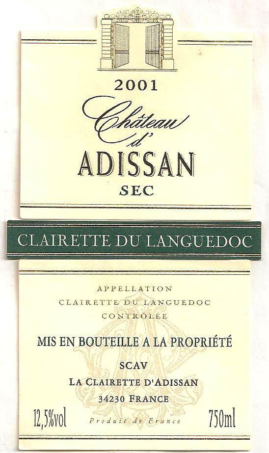 Clairette du Languedoc (Клерет-дю-Лангедок)